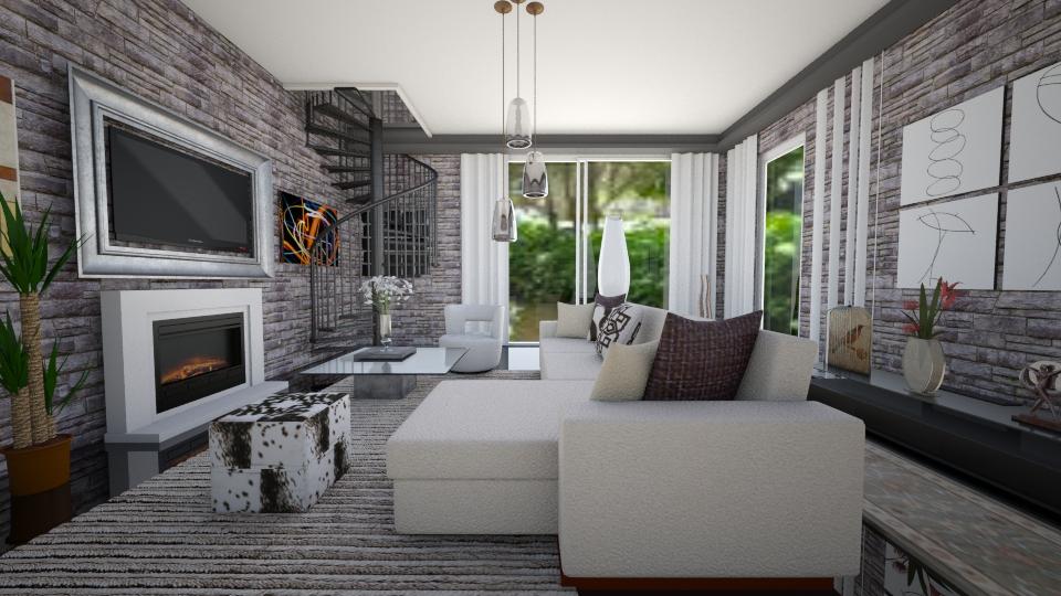 modern living room - Modern - Living room - by Tininha oliveira