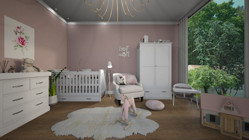 Pink Girly Nursery - by Alda Neziri