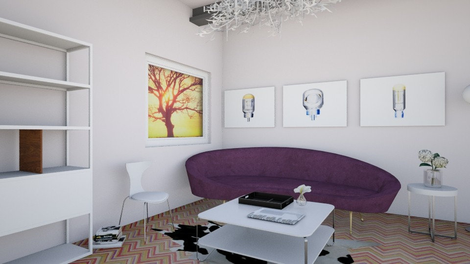 White Colourful - Living room - by LaughingDonut