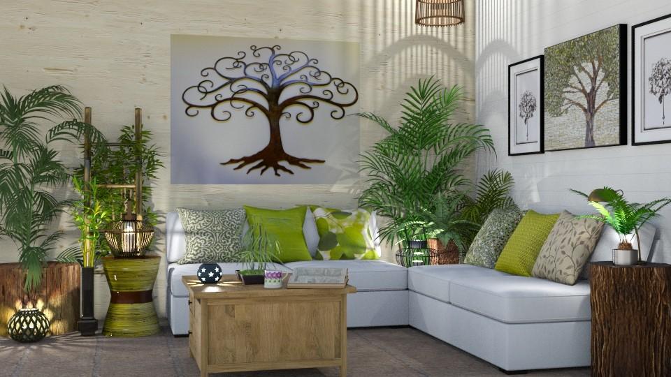 Urban Jungle Living - Living room - by  krc60