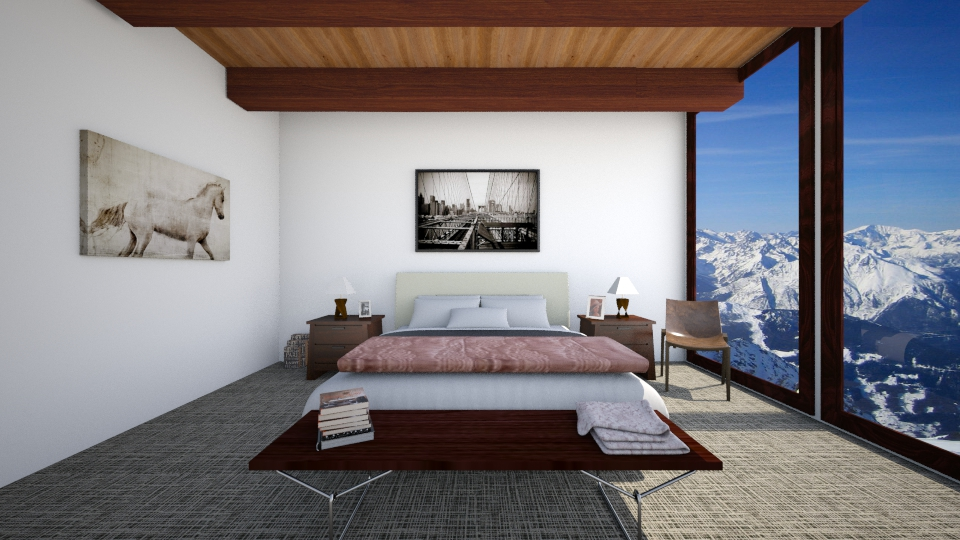 Mountaintop Cabin - Bedroom - by Zoe_Roomstyler