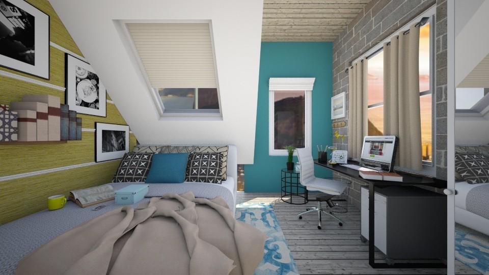 Small Loft - Bedroom - by Josiemay1234