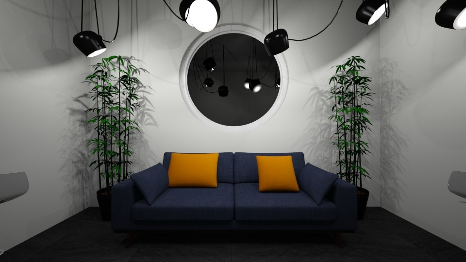 Orange Blue - Modern - Living room - by udanielle12