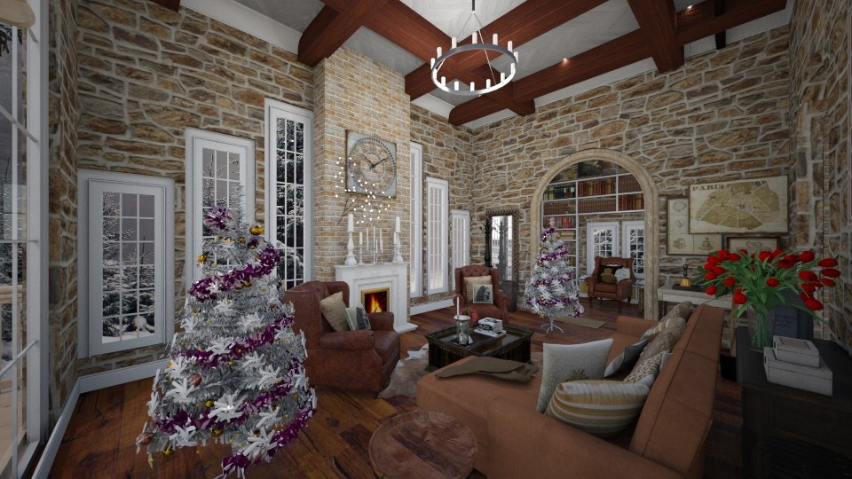 canada holiday room entry - Living room - by fernadia3