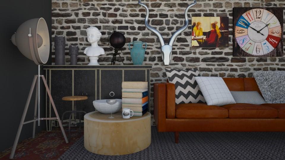 1 - Modern - Living room - by Karim Mahfouz
