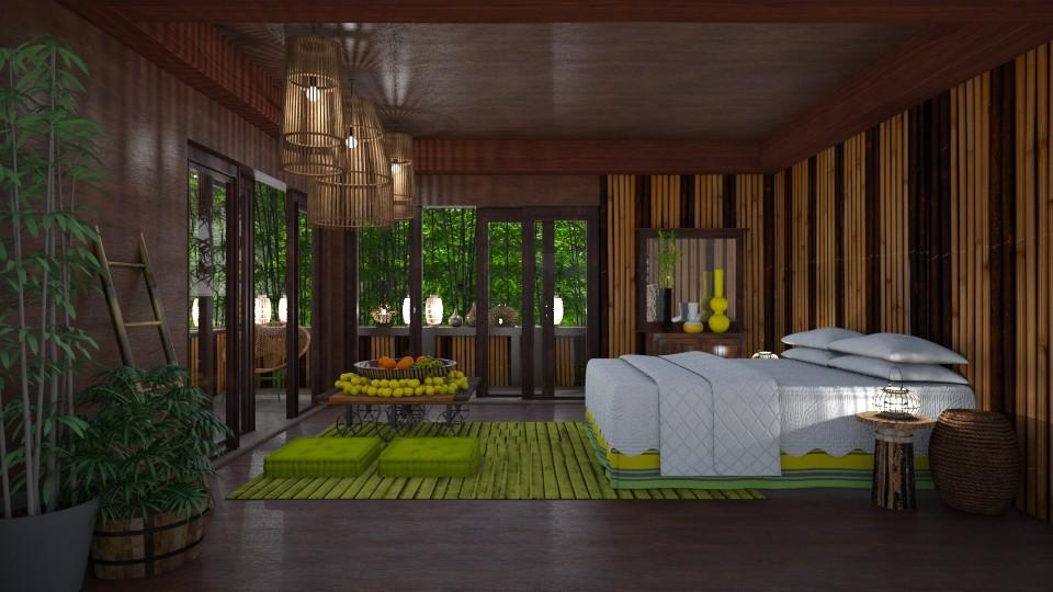 bamboo bedroom  - Eclectic - Bedroom - by Ida Dzanovic