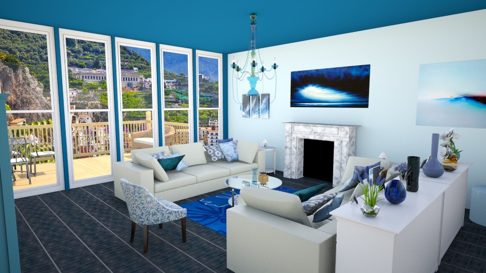 Shades of Blue - Modern - Living room - by Abby Timmons