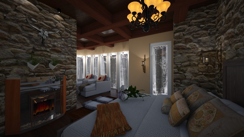 babus luxury cabin - Country - Bedroom - by chloe_mccarty