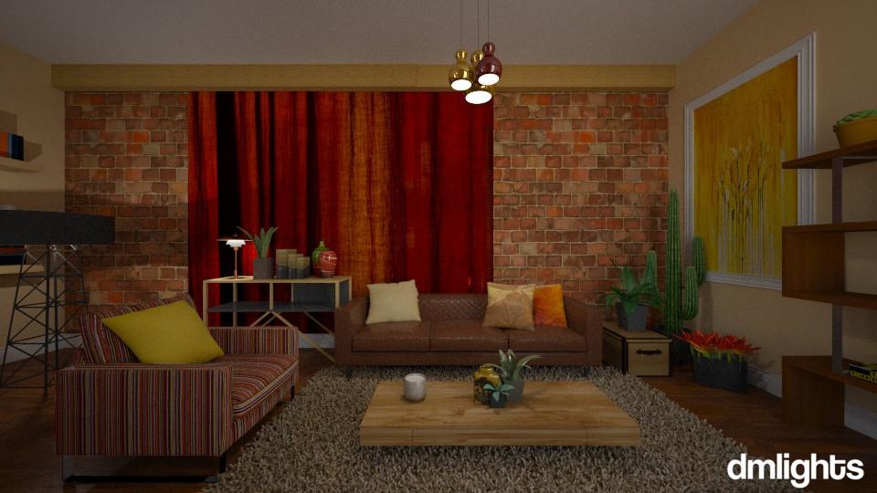 Earthy Mood - Living room - by DMLights-user-982019