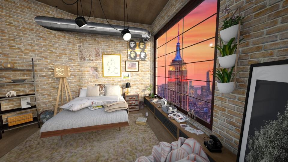 Messy Loft  - Bedroom - by Valerie Meiner