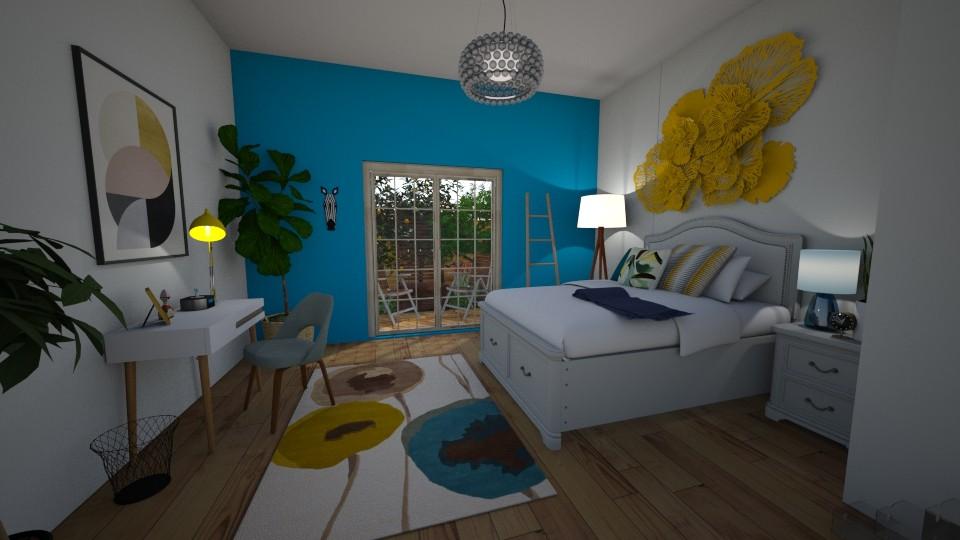 Teenage bedroom - Bedroom - by LetiG