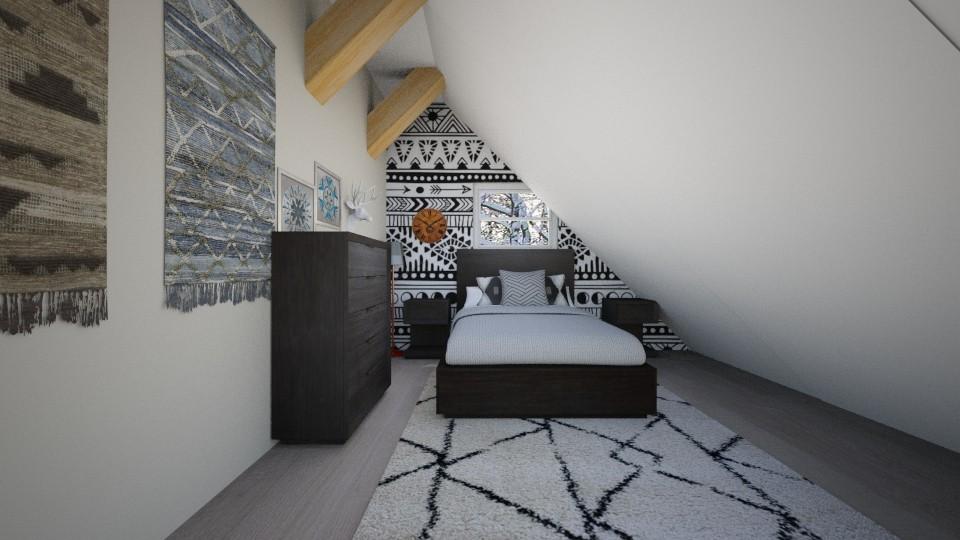 Boho Bedroom - by Snowy Tiger