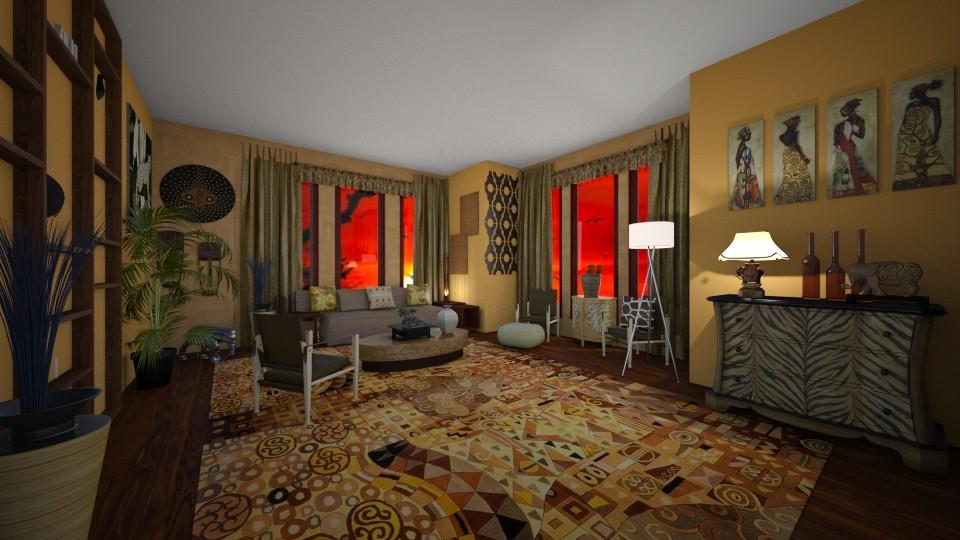 african livingroom - Living room - by kla