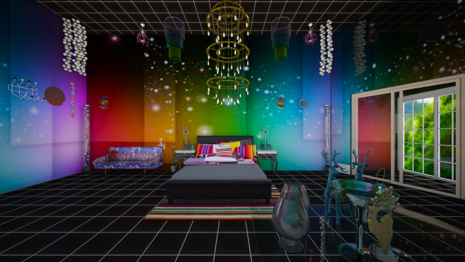 neon lights glamour bedroom by yemascus