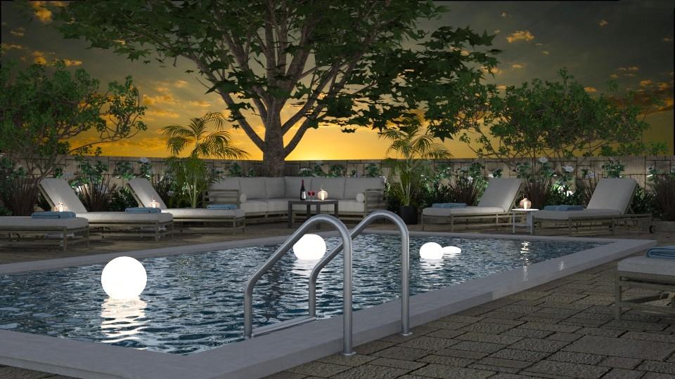 Swimming Pool - Garden - by GraceKathryn