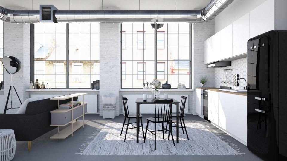 01 - Modern - Kitchen - by Y A Q I Y N