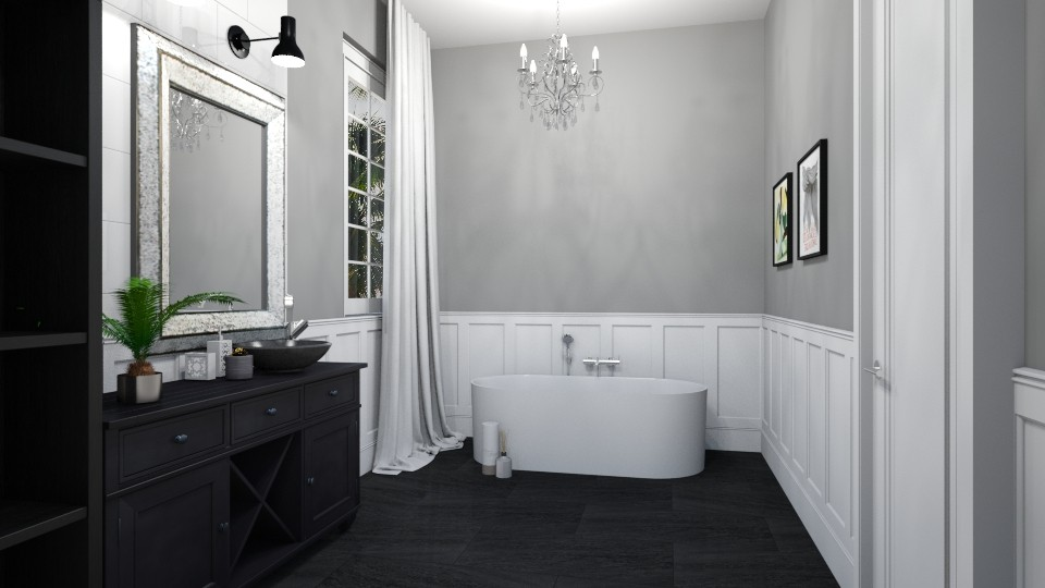 greys - Bathroom - by dorota_k
