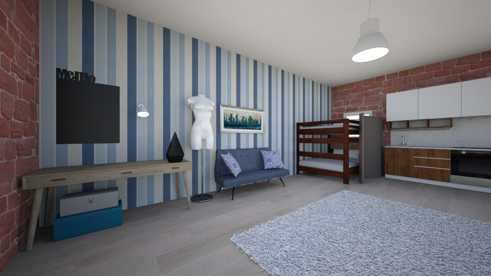 Student apt Fashion loft - Bedroom - by DrJaffaDesigner