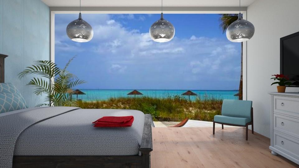 My Backyard is a Beach - Bedroom - by kyramargarete19
