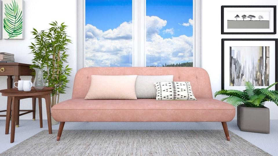 Pink sofa - Living room - by eliseatlife