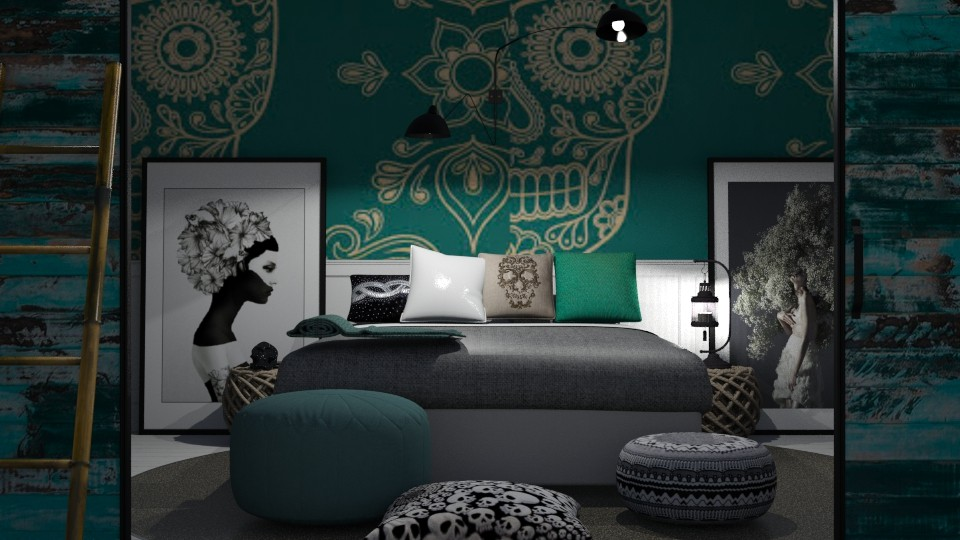 Sugar Skull Bedroom - Bedroom - by abbyt94