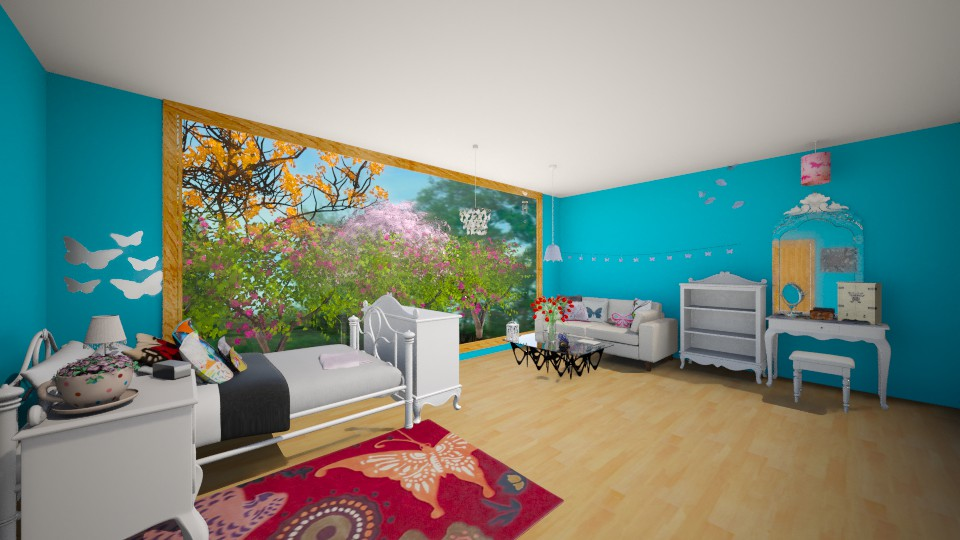 Butterfly Room - Bedroom - by Jessica Lyn