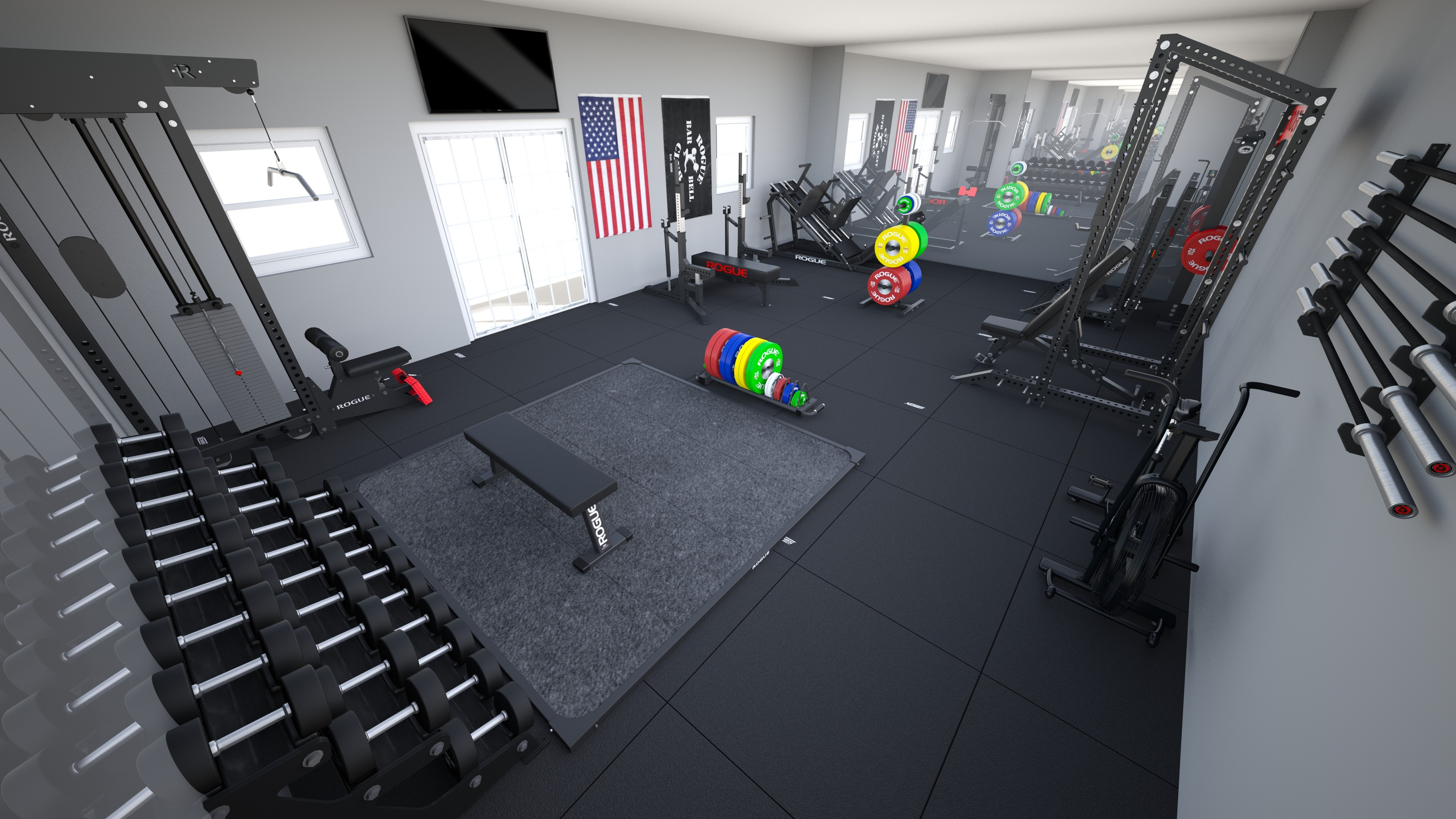 The day garage gym workout program muscle fitness