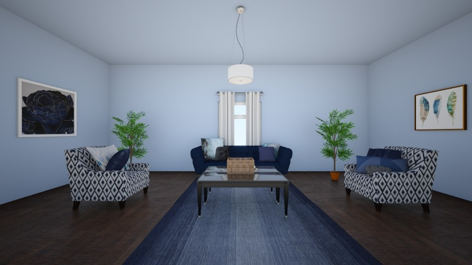 Neutral Navy - Living room - by janelleyc3