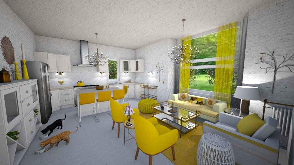 A Yellow Kitchen - Kitchen - by Sher02