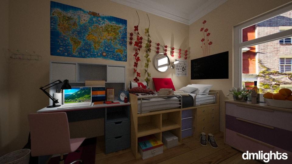 dorm 2 - Bedroom - by DMLights-user-1551821