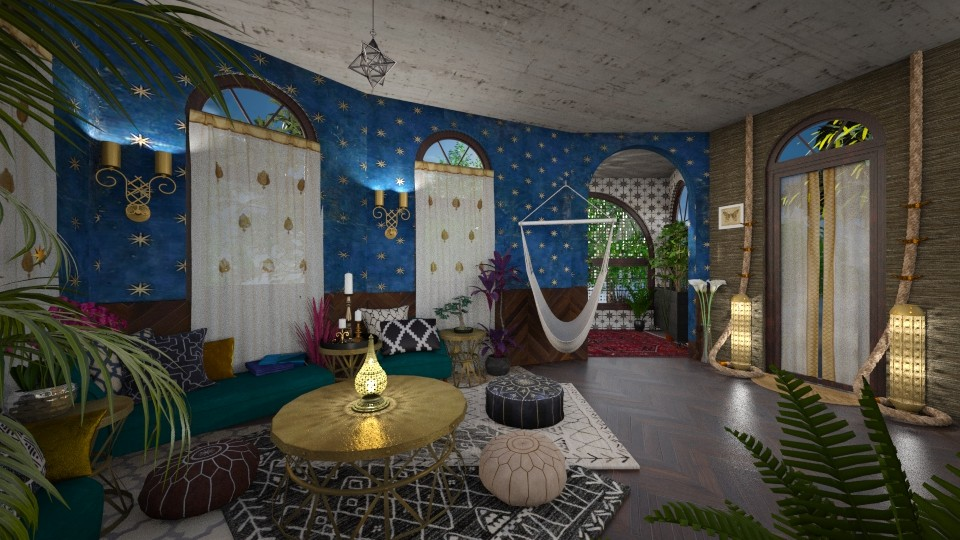 modern bohemian  - Living room - by AlocinB